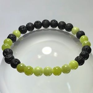 Jewelry - Serpentine Jade & Lava Rock Oil Diffuser Bracelet!